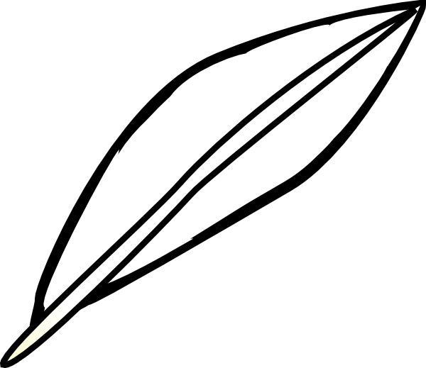 Feather Outline Clip Art at Clker.com - vector clip art online ...