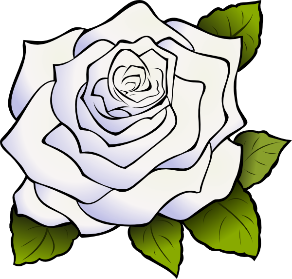 white rose clip art at clker com vector clip art online royalty rh clker com white rose clipart free single white rose clipart
