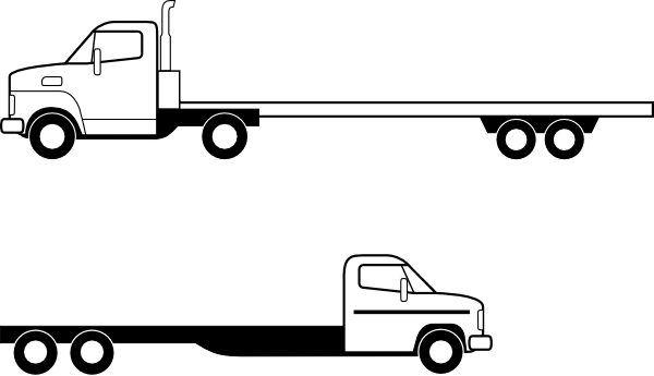 Flatbed Trucks4 Clip Art at Clker.com - vector clip art online ...