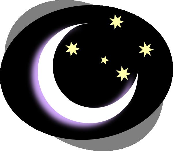 Black Night Moon Clip Art at Clker.com - vector clip art ...