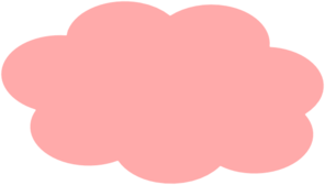 Light Pink Clouds Clip Art