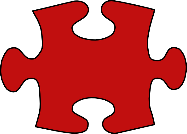 Red Puzzle Peice Clip Art at Clker.com - vector clip art ...
