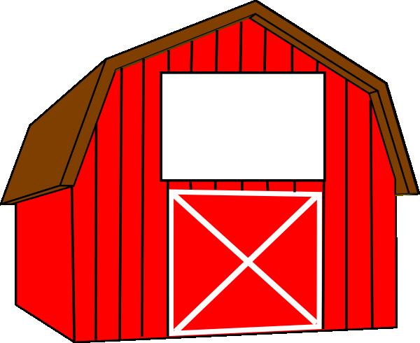 red white barn clip art at clker com vector clip art online rh clker com free clipart barn dance barnyard clipart free