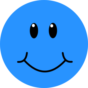 Blue Smile Clip Art at Clkercom vector clip art online royalty