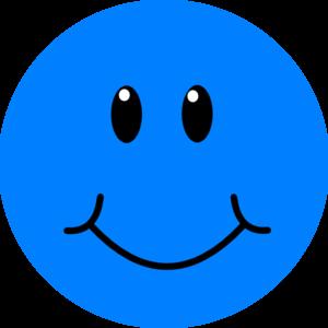 Blue Smile clip art