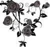 Gray Roses No Background Clip Art