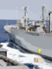 Ordnance Transfers Aboard Uss Carl Vinson From The Military Sealift Command Ship Usns Mount Shasta Clip Art