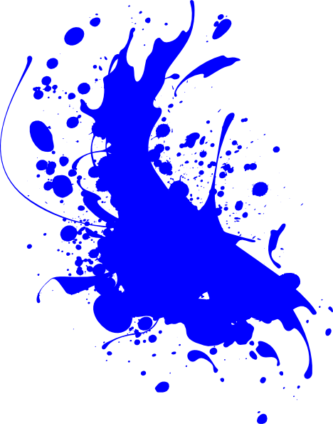 blue paint splat clip art at clker com vector clip art online  royalty free   public domain Clear Background Blood Splatters Blood Splatter No Background