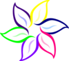 Multi-color Flower Clip Art
