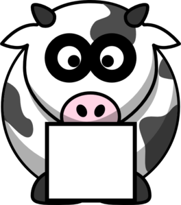 Cow With Box Clip Art