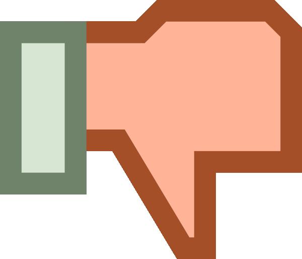 Thumb Down Dislike Clip Art at Clker.com - vector clip art ...
