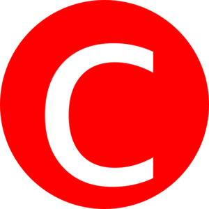 Red, Rounded, With C Clip Art