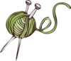 Green Knitting Clip Art