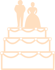 Orange Wedding Cake Clip Art