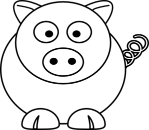 Pig White Clip Art at Clker.com - vector clip art online ...