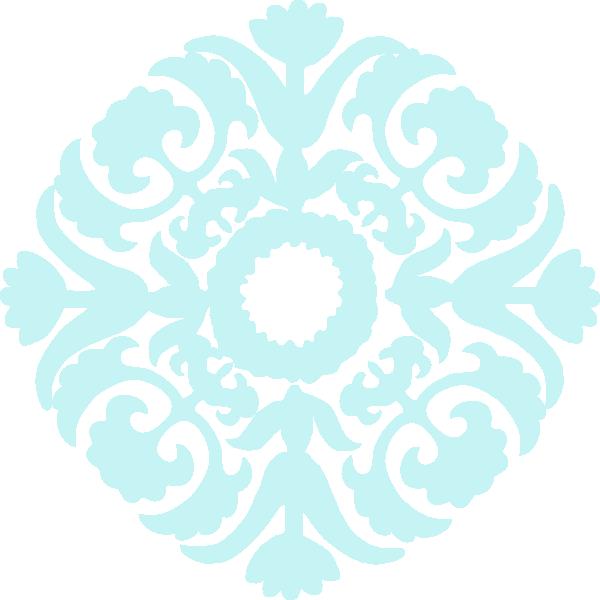 Black Flower Clip Art At Clker Com: Damask Flower Clip Art At Clker.com