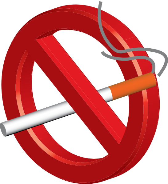 No smoking 3d icon clip art at vector clip art online royalty free public domain - Logo interdiction de fumer ...