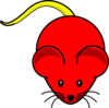 Red Mouse Yellow Tail Clip Art