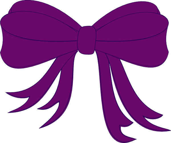 purple bow clip art at clker com vector clip art online royalty rh clker com bow clip art black and white bow clip art images