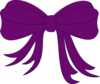 Purple Bow Clip Art