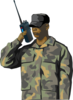 Soldier On Walkie Talkie Clip Art