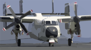 A C-2 Greyhound Makes An Arrested Landing On The Flight Deck Of Uss John C. Stennis (cvn 74) Clip Art