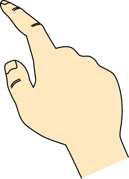 Pointing Finger Clip Art at Clker.com - vector clip art online ...