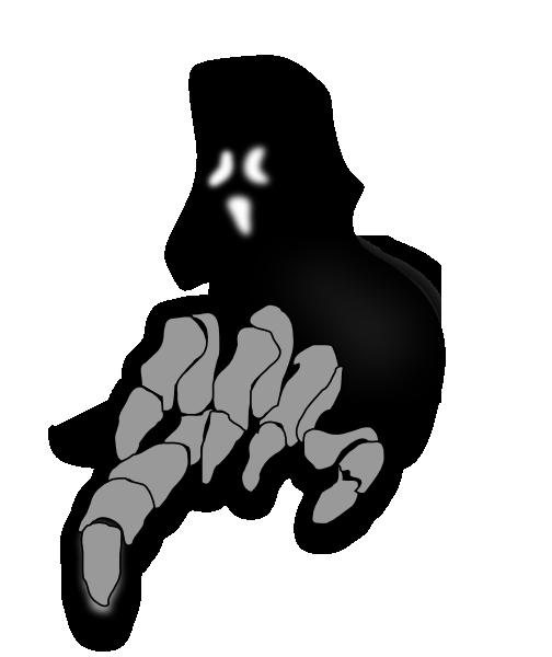 scary ghost clip art at clkercom vector clip art online