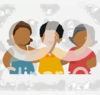 Cartoon Of A Group Of Diverse Middle Aged Female Friends Royalty Free Vector Clipart Clip Art
