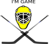 Goalie Mask Crossed Sticks Clip Art