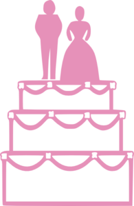 Wedding Cake Pink Clip Art At Clker Com Vector Clip Art