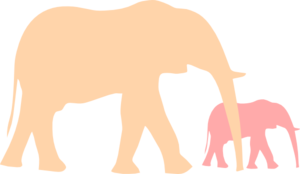 Mother And Baby Elephant Clip Art