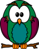 Skinny Owl On Branch Clip Art