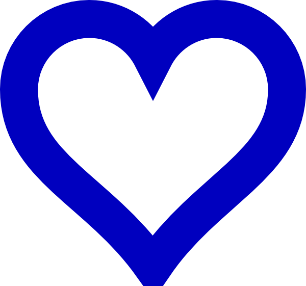open blue heart clip art at clker com vector clip art online rh clker com blue heart outline clipart light blue heart clipart