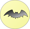 Bat With Moon Clip Art