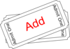 Add Ticket Button Clip Art