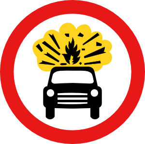 Road Signs Car Explosion Kaboom Clip Art