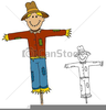 Free Scarecrow Clipart Black And White Image