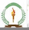 Olympic Torch Photos Clipart Image