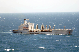 The Military Sealift Command Oiler Usns Patuxent (t-ao 201) Underway Conducting Missions In Support Of Operation Iraqi Freedom Image