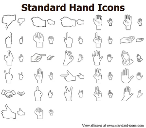 Standard Hand Icons Image