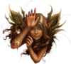 Fantasy Fairy Head Golden Image