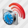 Icon Contactless Chip Card Clock Image