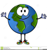 Smiling Globe Clipart Image