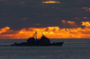 Uss Vella Gulf (cg 72) Maneuvers Near Uss George Washington (cvn 73) Image