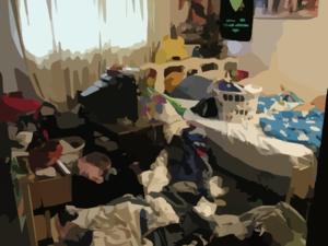 Messy Room X Clip Art
