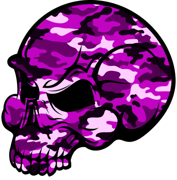 skull pink camouflage free images at clkercom vector