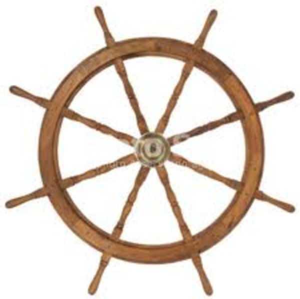 Ship Wheel | Free Images at Clker.com - vector clip art online ...