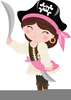 Lady Pirate Clipart Image