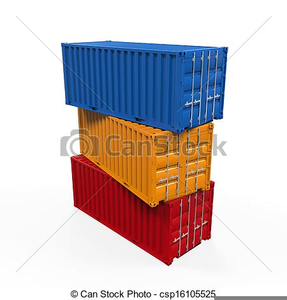Free Clipart Shipping Container Image